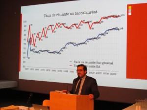 M. de Panafieu commente les résultats du baccalauréat 2011