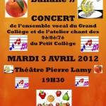 affiche 3 avril 2012