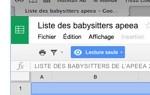 Liste babysitters -  Photo - 19 oct. 2015