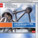 Capture écran résultats Questionnaire sciences