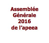 Assemblée générale de l'apeea mardi 18 octobre 2016 à 19h15