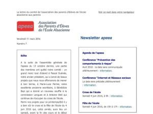 Newsletter apeea n°7 - capture d'ecran