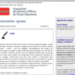 Newsletter apeea n°8 Capture d'écran