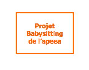 Le projet Babysitting de l'apeea