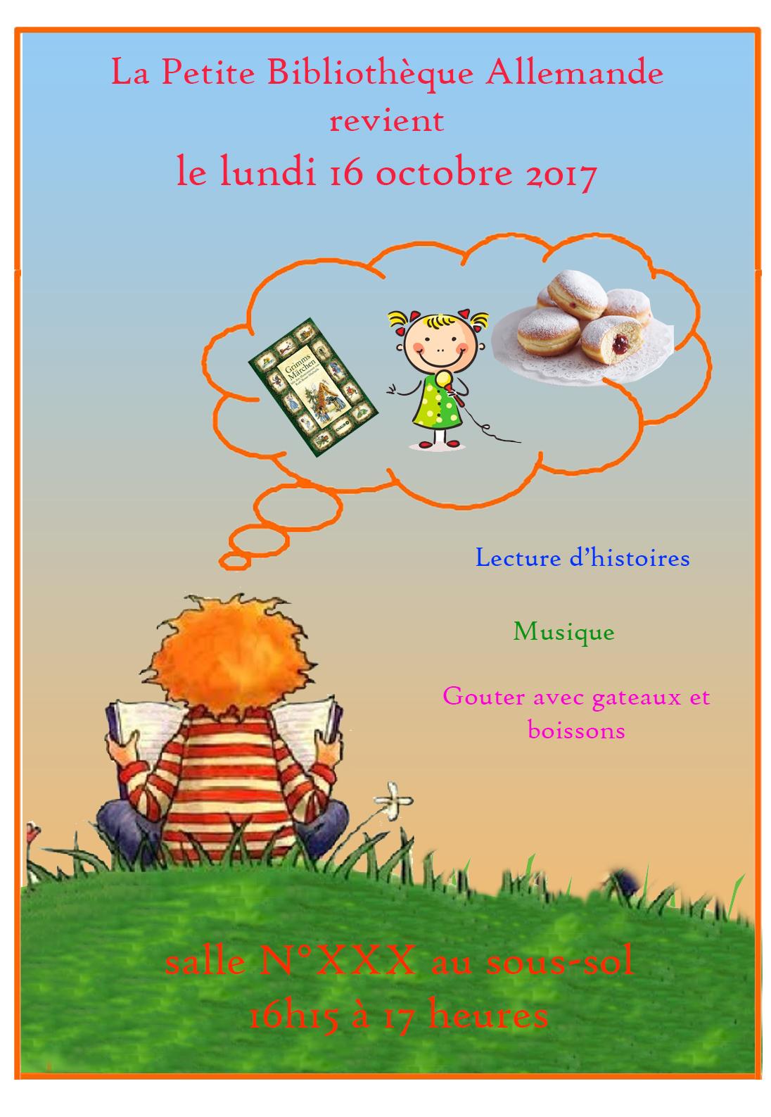 Petite Bibliothèque Allemande (Petit Collège et 6e) : prochain rendez-vous lundi 13 novembre 2017
