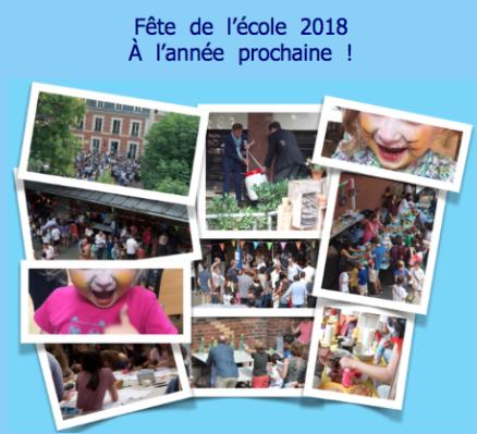 Grand succès de la Fête de l'Ecole 2018 grâce à nous tous !