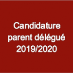 Bouton Candidature parent delegue 2019-2020