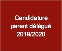 Bouton Candidature parent delegue 2019-2020
