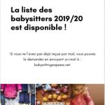 Projet Babysitting - Affiche liste dispo pour site apeea net